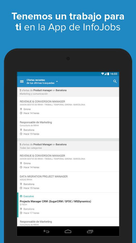 Android InfoJobs - Job Search Screen 16