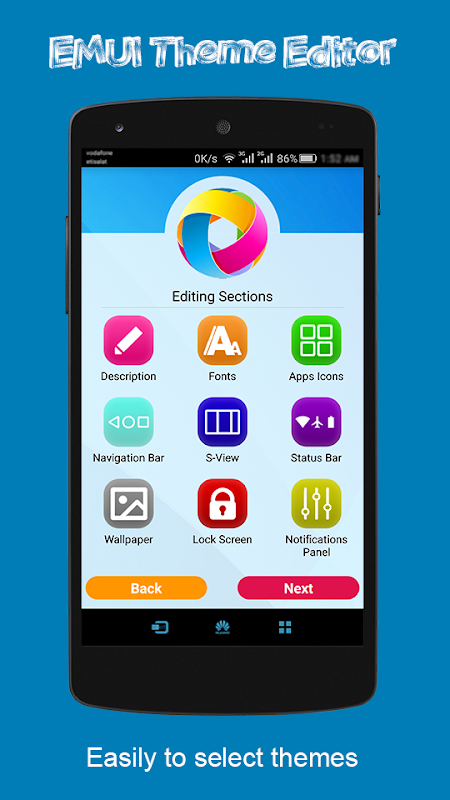 Android EMUI Theme Editor Screen 1