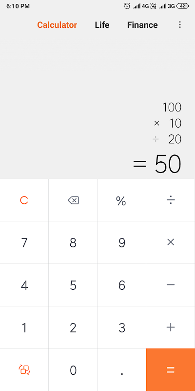 Mi Calculator 11.0.1 Screen 1