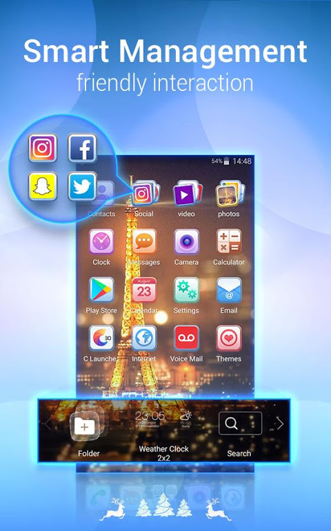 Android U Launcher Lite – FREE Live Cool Themes, Hide Apps Screen 6