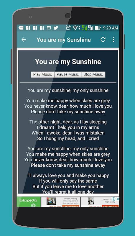 Android Lagu Anak Bahasa Inggris dan Lirik Screen 2