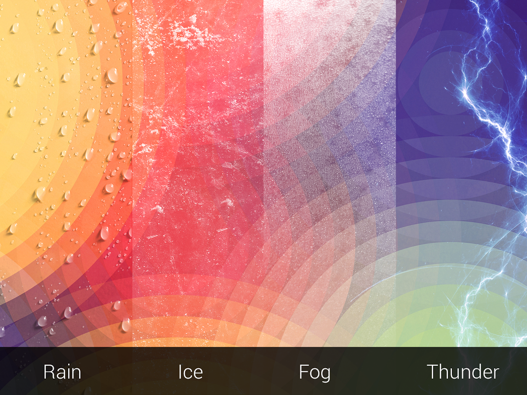 Android Weather: Weatherback, Effects on your homescreen Screen 4