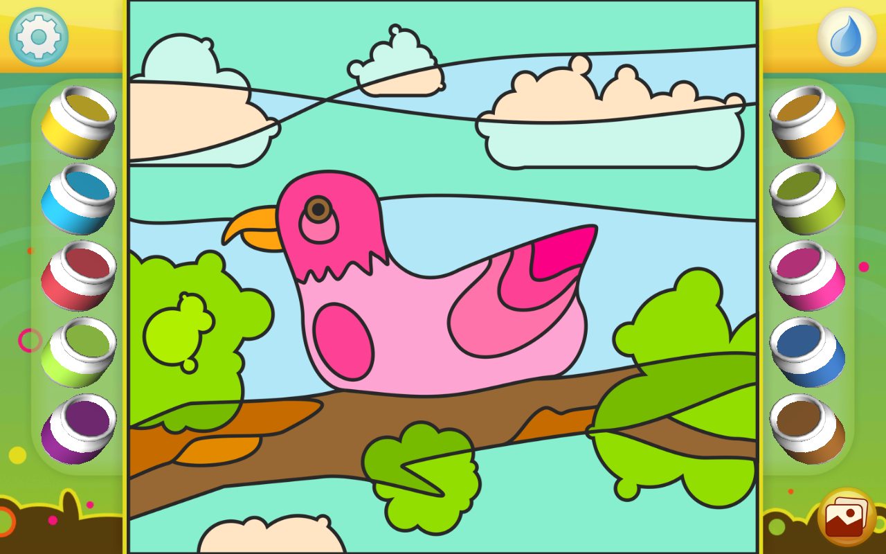 Android Paint by Numbers - Animals Screen 1