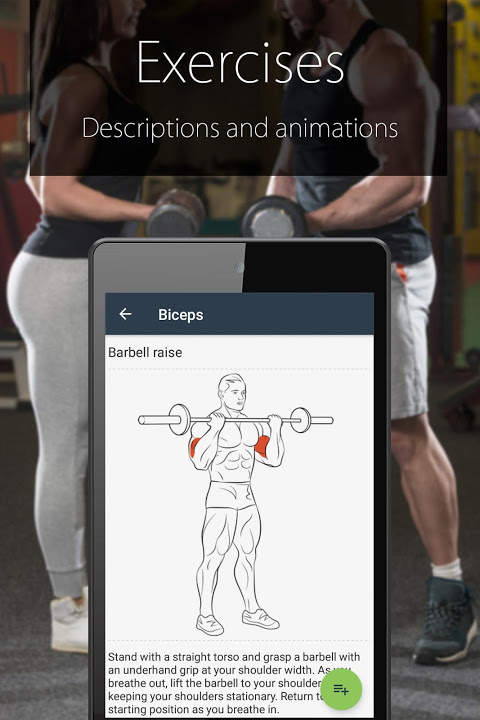 Android Fitness Coach FitProSport Screen 4