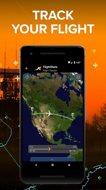 Android FlightStats Screen 1