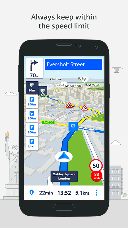 Android Sygic: GPS, Navigation, Offline Maps & Directions Screen 3