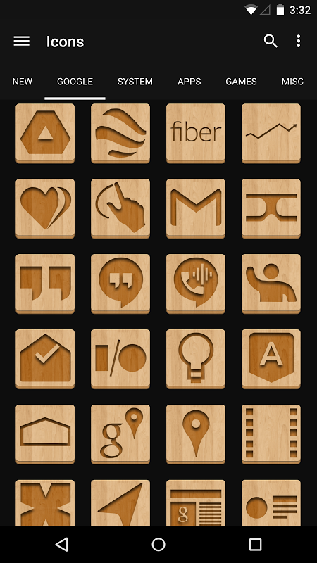 Android Wood - Icon Pack Screen 3