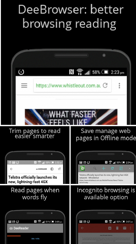 Android Dee Browser - Blocks Ads Screen 12