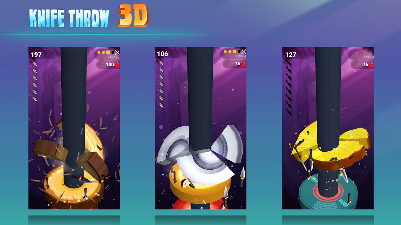 Android Knife Throw 3D Screen 2