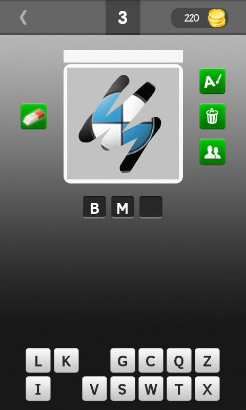 Android Scratch Car Logos Quiz Screen 1