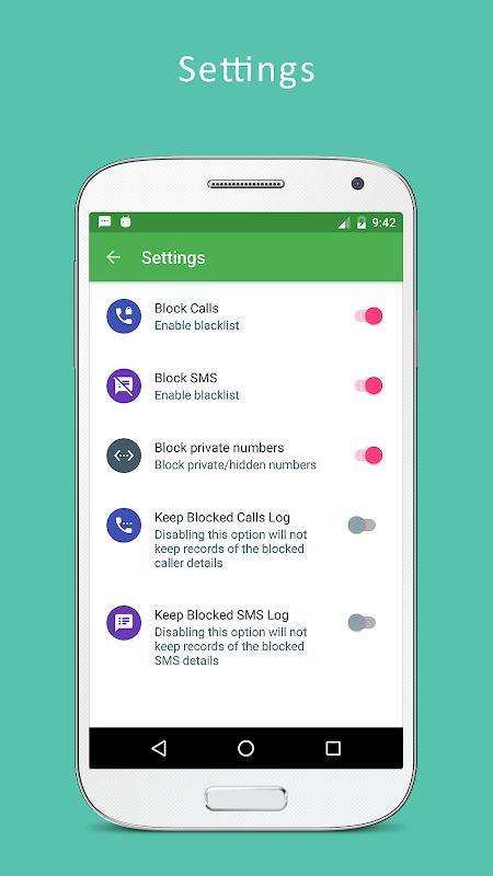Android Call Blocker - Blacklist, SMS Blocker Pro Screen 3