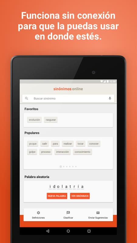Diccionario Sinónimos Offline 2.7.0 Screen 12