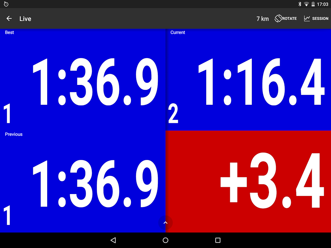 Android RaceChrono Pro Screen 2