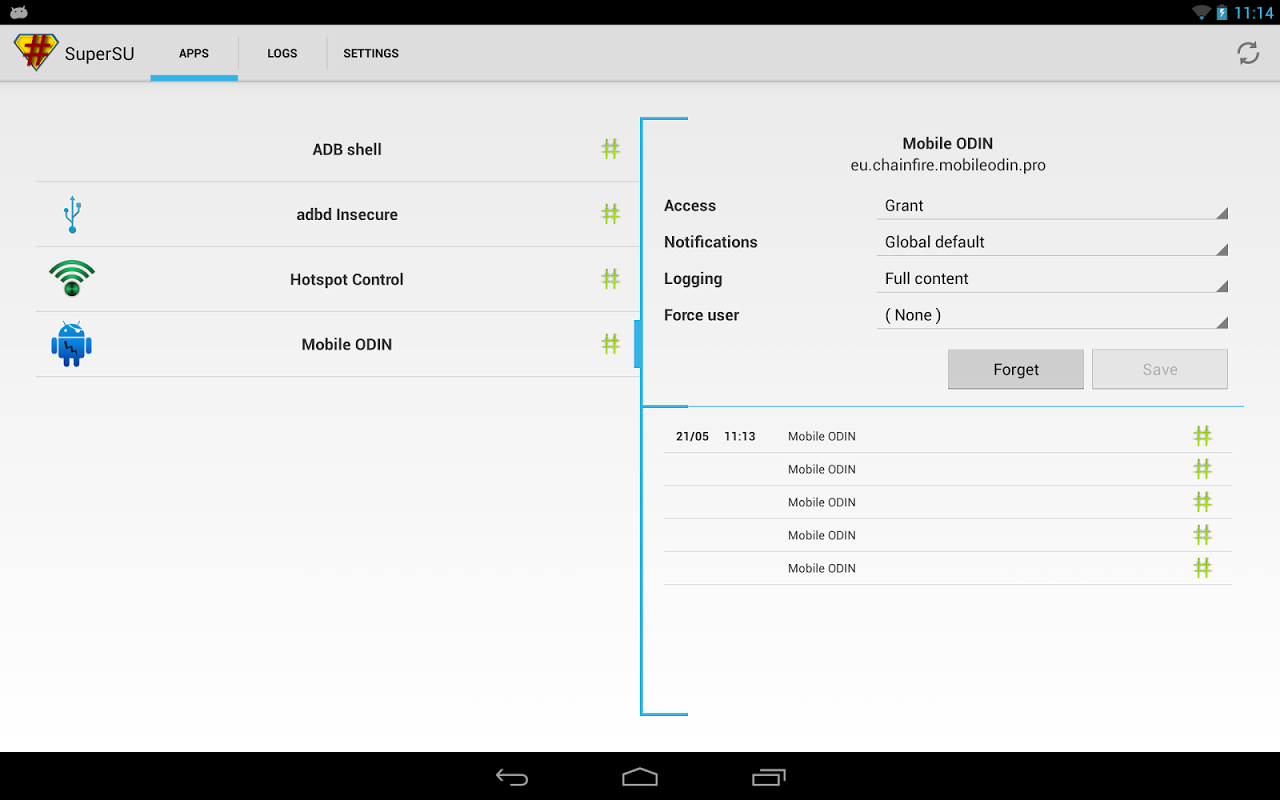 Android SuperSU Screen 5