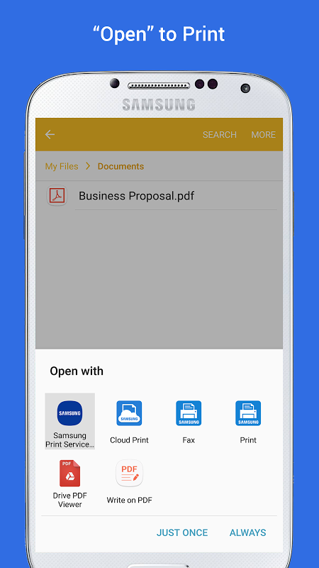 Android Samsung Print Service Plugin Screen 3