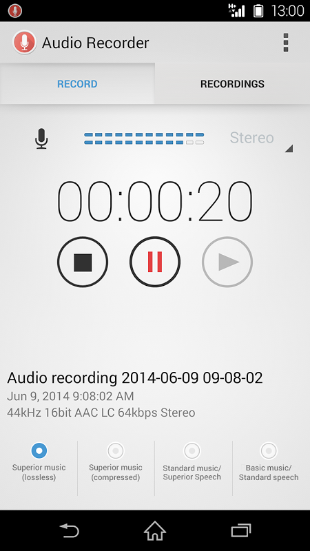 Audio Recorder 1 00 06 APK Download by Sony Mobile