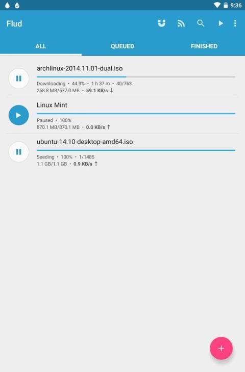 Flud - Torrent Downloader 1.4.9 Screen 8