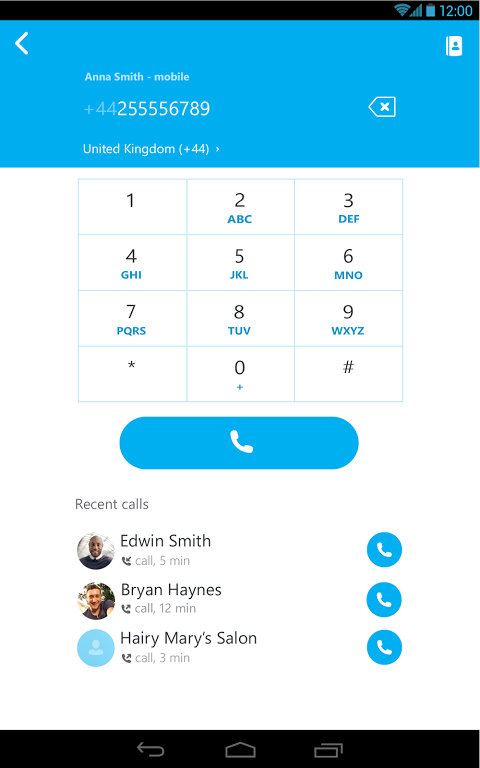Android Skype Screen 3