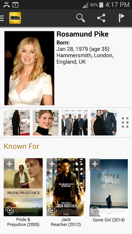 Android IMDb Movies & TV Screen 10