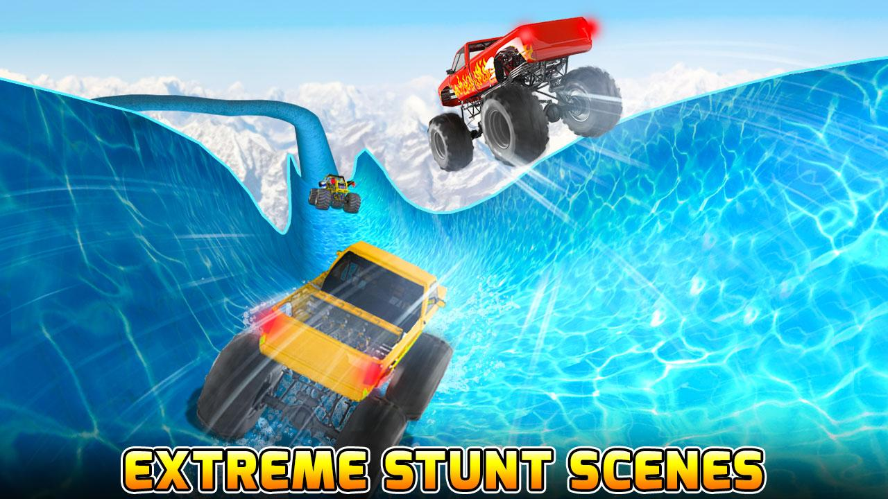 Android Water Slide Monster Truck Race Screen 3