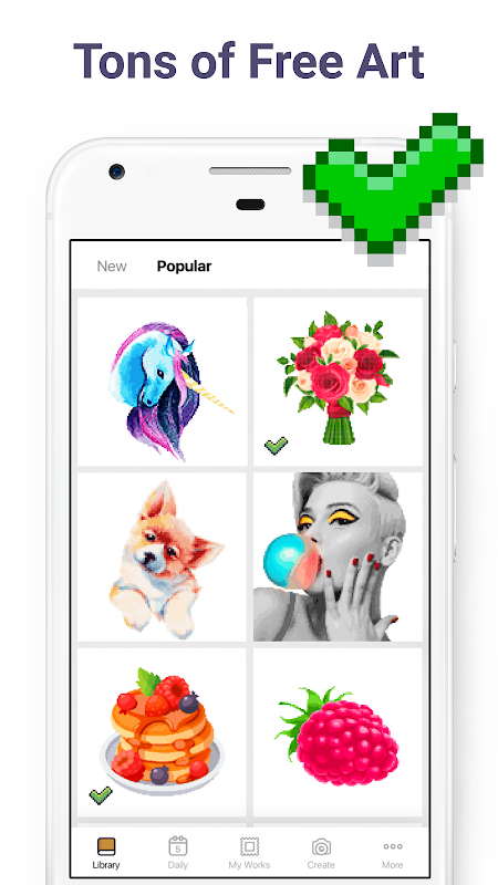 Android Pixel Art: Colour by Number Screen 1