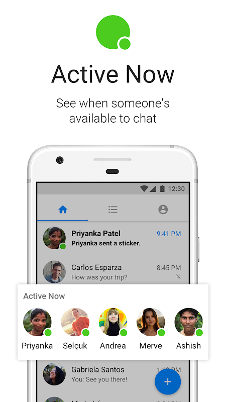 Android Messenger Lite Screen 1