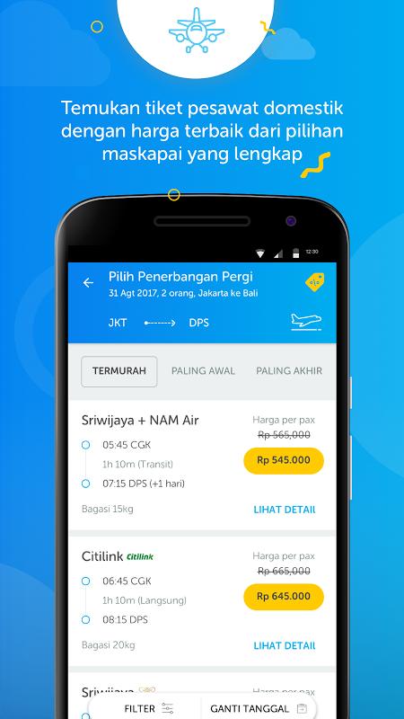 Android Airy - Tiket Pesawat & Hotel Murah Screen 1