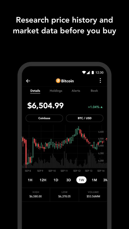 Android Blockfolio - Bitcoin and Cryptocurrency Tracker Screen 1