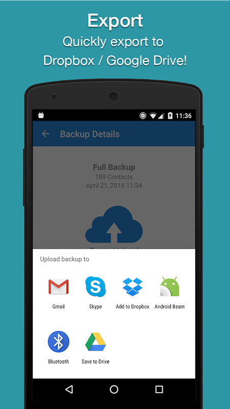Easy Backup - Contacts Export and Restore 8.9.8 Screen 2