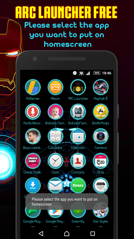 Android ARC Launcher Theme No Ads Screen 3