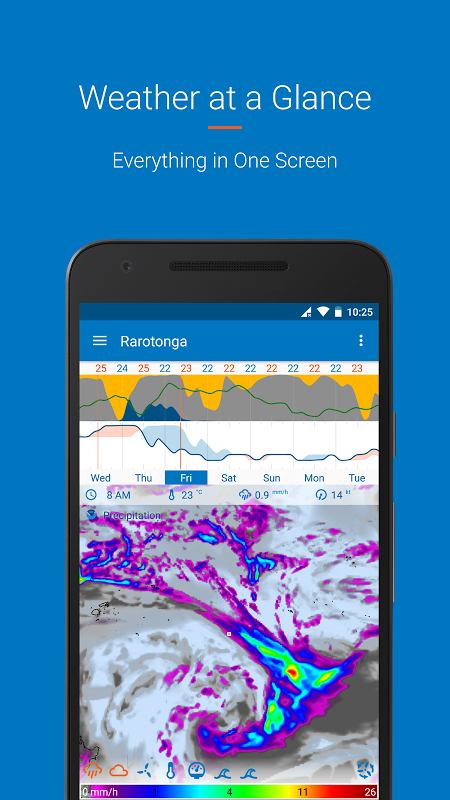 Android Flowx: visual long range weather forecast Screen 1