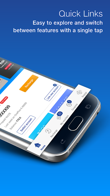 MyJio - Recharge & Pay Bills, Redeem ₹50 Voucher 5.0.17 Screen 1