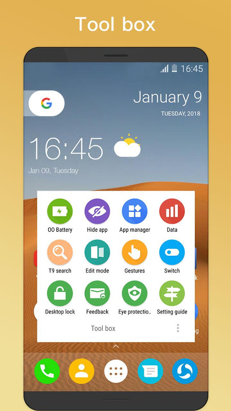 Android OO Launcher for Android O 8.0 Oreo™ Launcher Screen 4