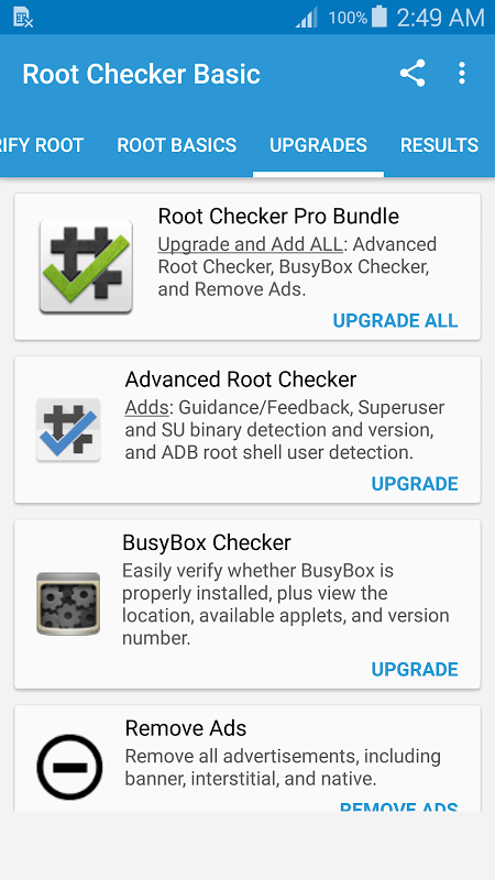 Root Checker 6.1.1 Screen 2