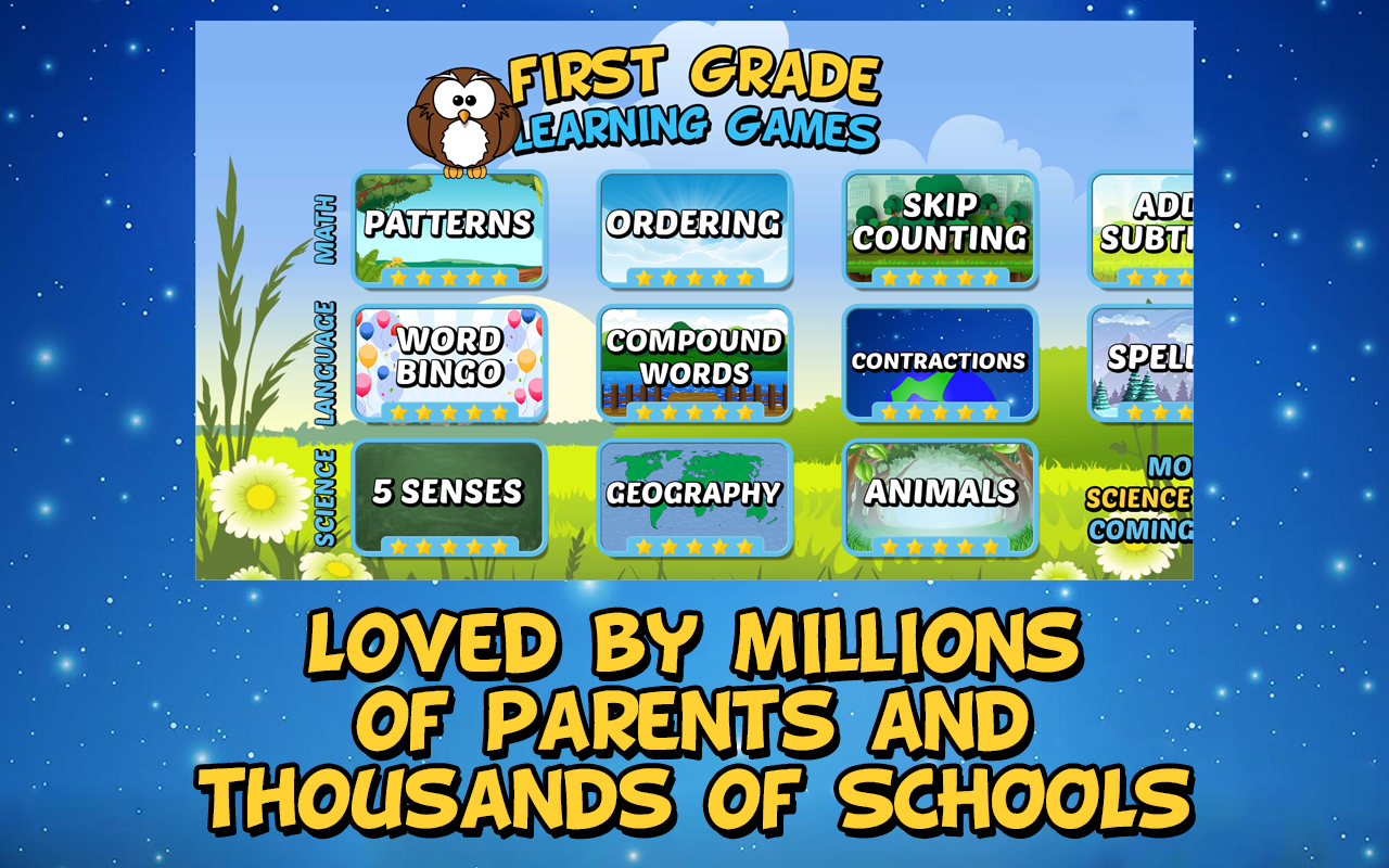 First Grade Learning Games 3.2 Screen 3