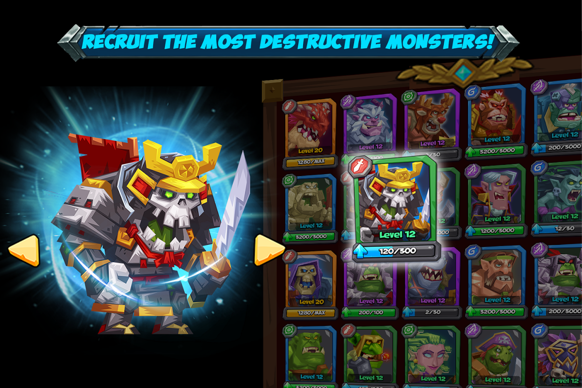 Android Tactical Monsters Rumble Arena - Tactic & Strategy Screen 1