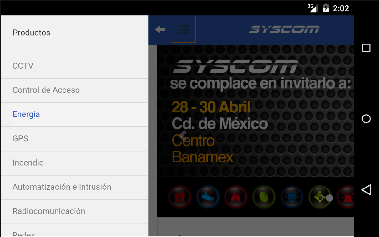 Android SYSCOM para Android Screen 3
