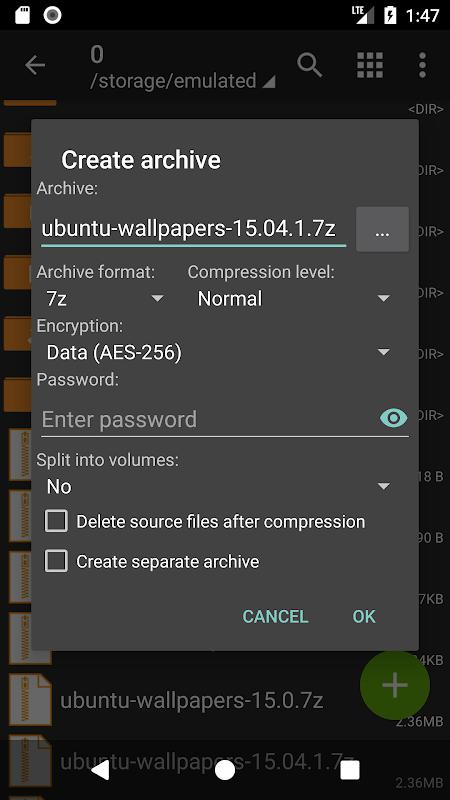 ZArchiver 0.9.1 Screen 6