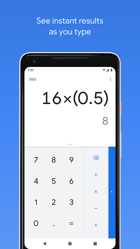 Android Calculator Screen 5