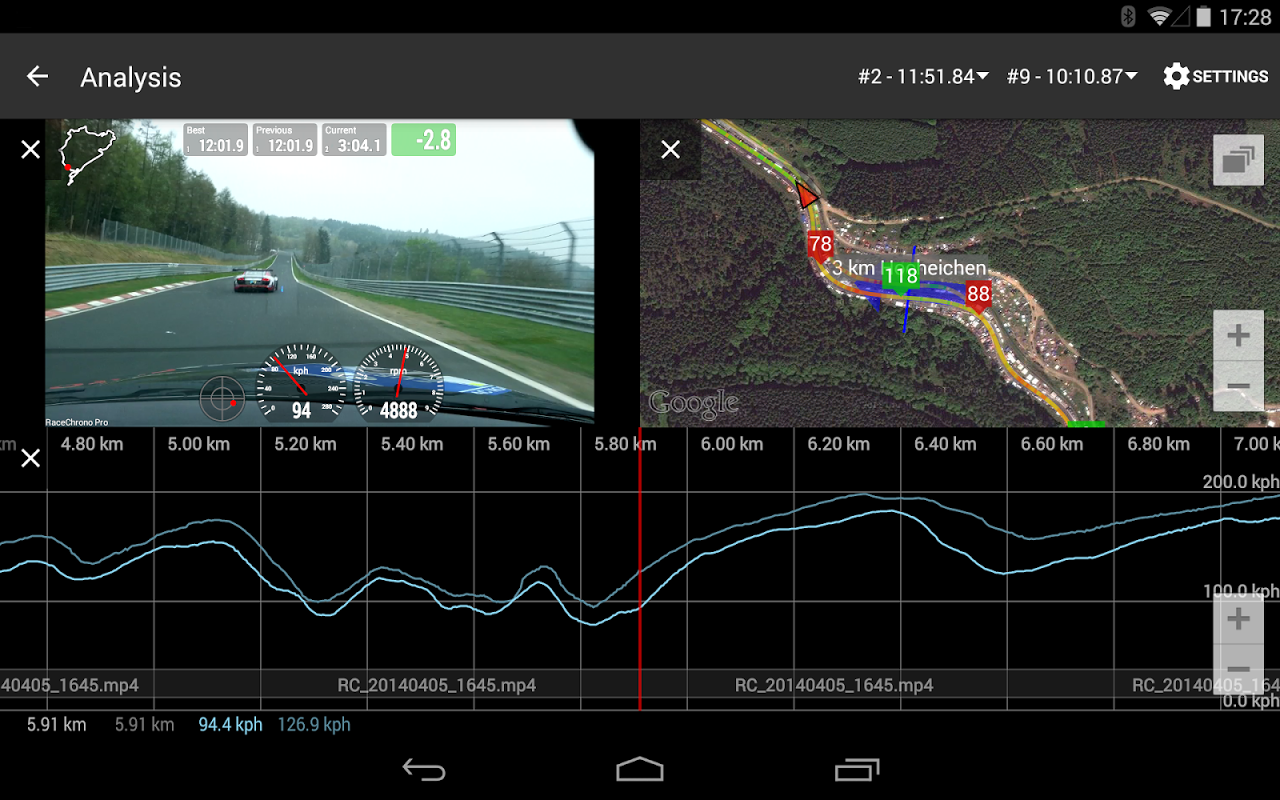 Android RaceChrono Pro Screen 17