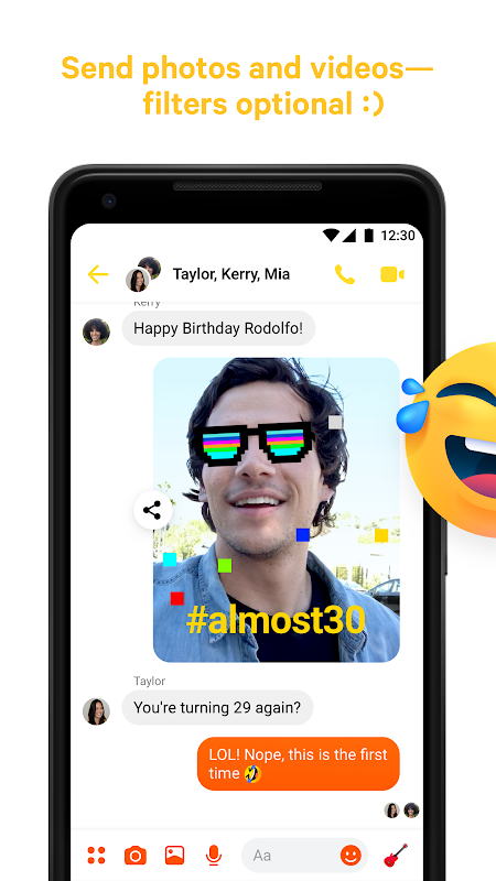 Messenger – Text and Video Chat for Free 196.1.0.40.99 Screen 3