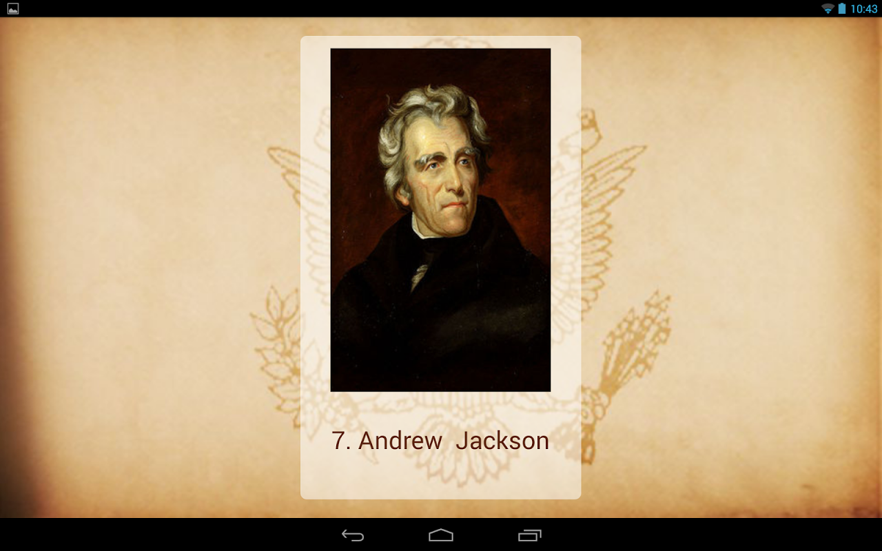 Android U.S. Presidents Screen 6