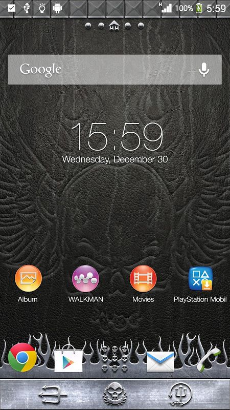 XPERIA™ THEME Headbanger 1.0.0 Screen 1