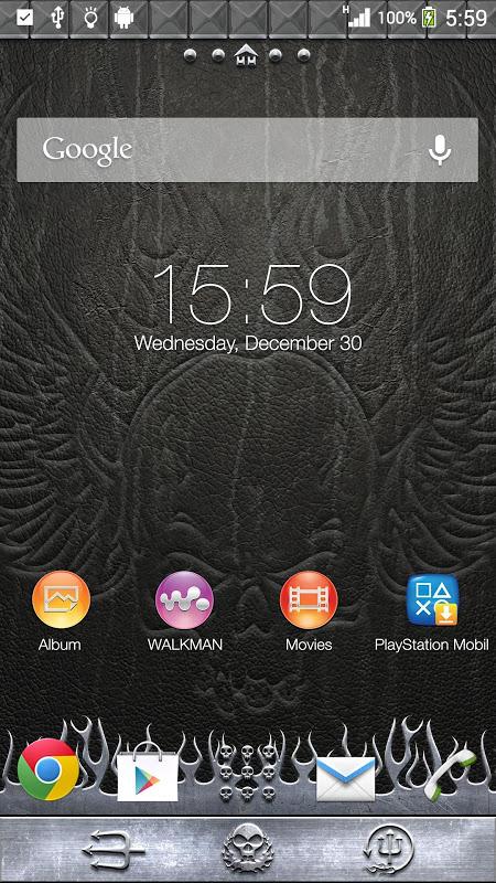 Android XPERIA™ THEME Headbanger Screen 1