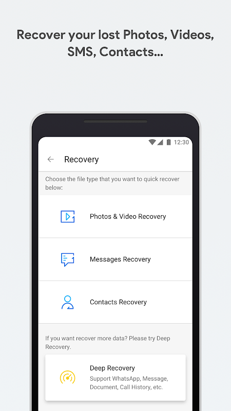 dr.fone - Recovery & Transfer wirelessly & Backup 3.2.0.170 Screen 1