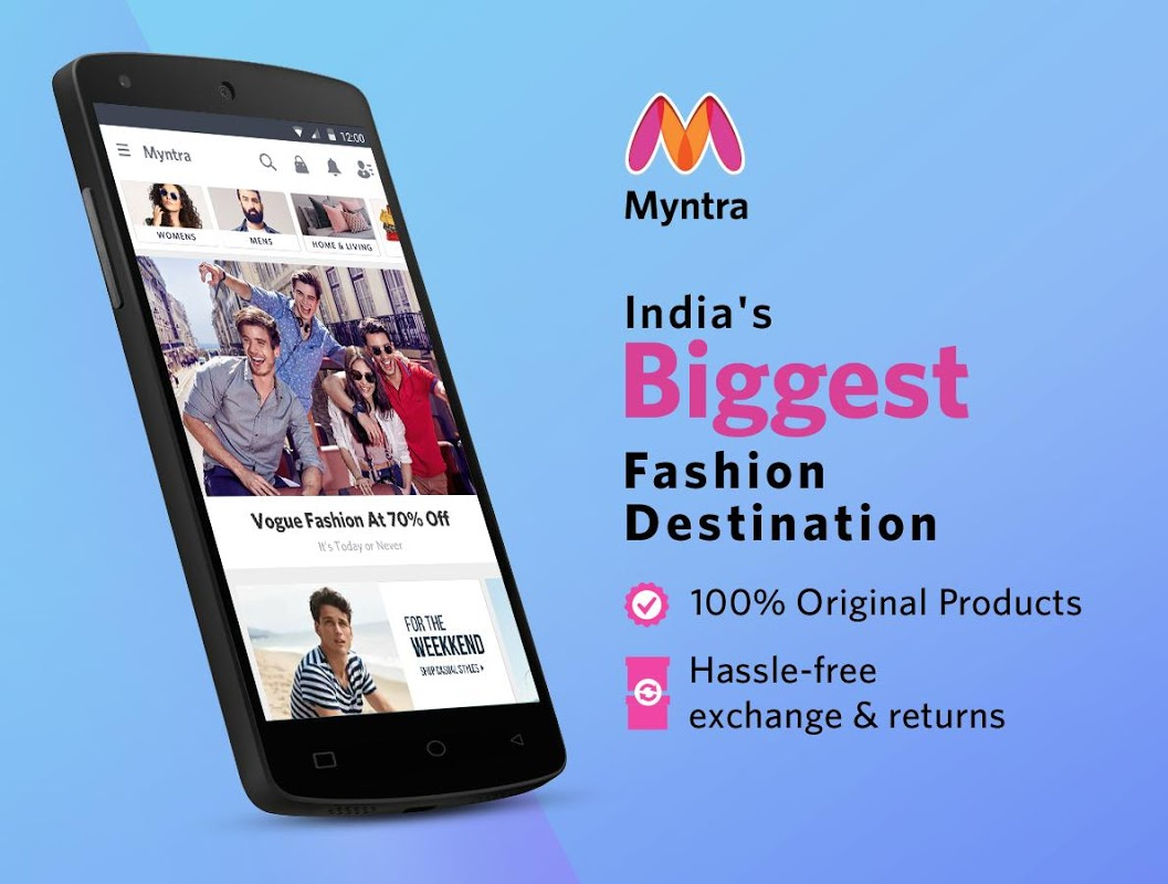 Android Myntra Online Shopping App Screen 2