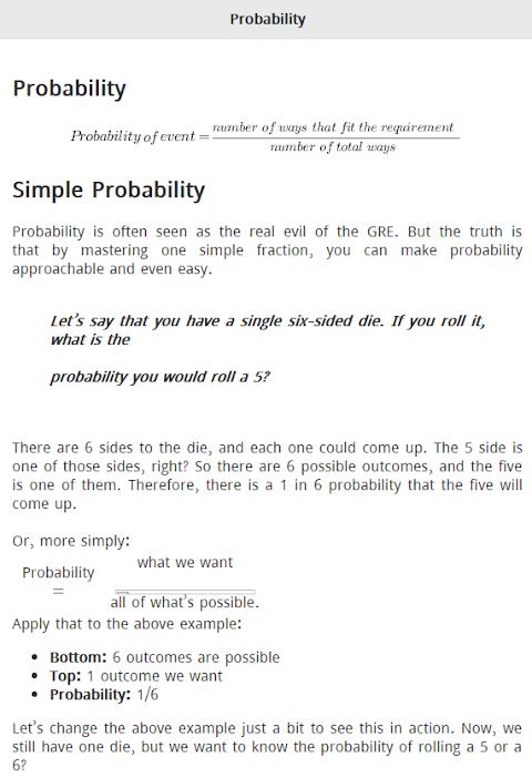 Quantitative Preparation for GRE 1.0.2 Screen 1
