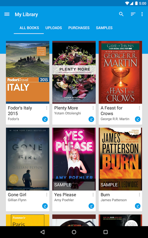 Android Google Play Books Screen 13