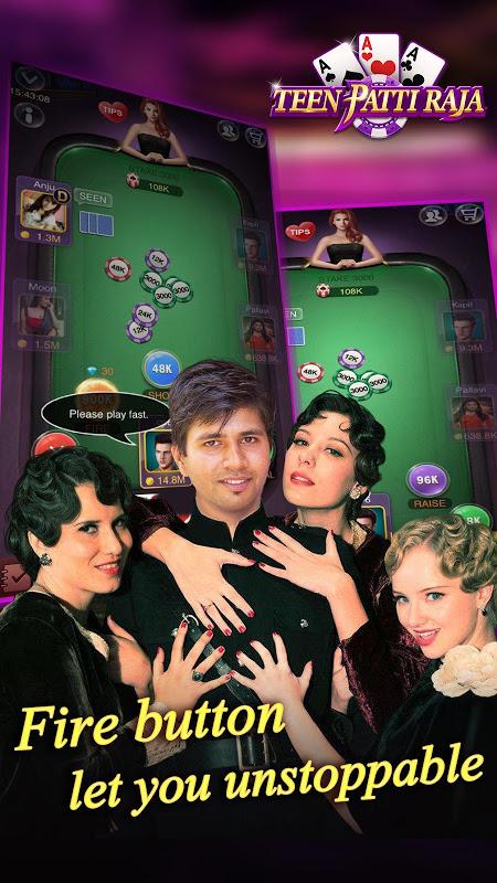 Android Teen Patti Raja- Indian poker and 3 patti free casino game Screen 2