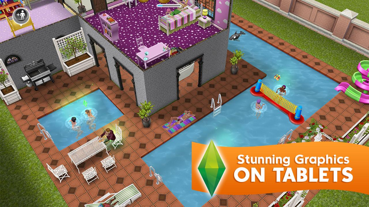 Android The Sims FreePlay Screen 2